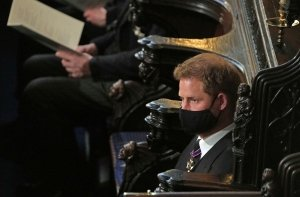 Prince Harry Sits Alone at Prince Philip's Funeral as William Rejoins Kate