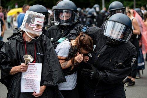 Berlin Protesters Decry Coronavirus Measures; 600 Detained | Business News | US News