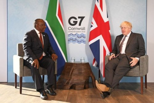 S.Africa's President Ramaphosa Urges G7 Nations to Plug COVID-19 Funding Gap