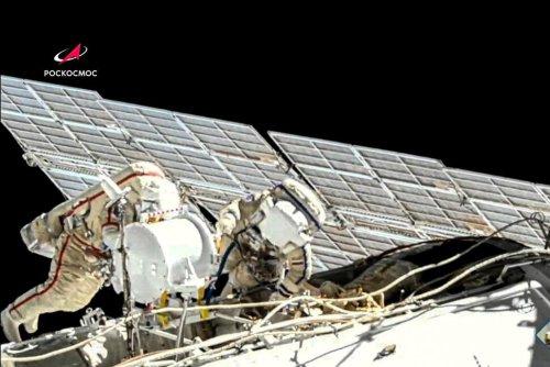 2 Russian Crew Do Spacewalk at International Space Station | World News | US News