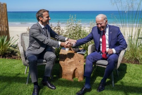 America Is Back With Biden, France's Macron Says