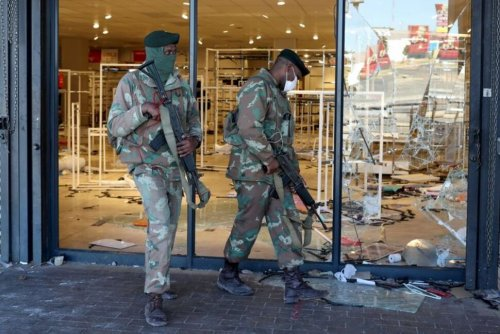 10 Bodies Found at Looted S.African Mall Following Stampede   World News   US News