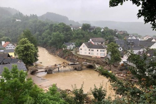 As Floods Hit Western Europe, Scientists Say Climate Change Hikes Heavy Rain   World News   US News