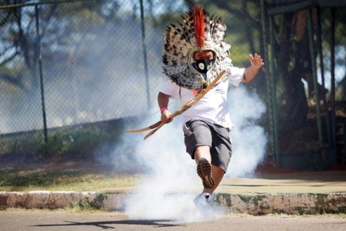 Police Tear Gas Indigenous Protest for Land Rights in Brazil | World News | US News