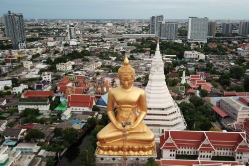 Thai Temple Says Construction of Giant Buddha Statue Visible Across Bangkok Nearly Complete   World News   US News