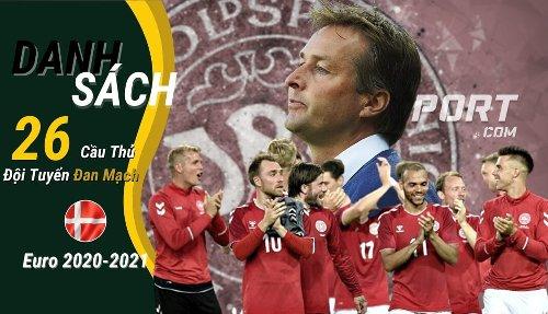 Danh sách chính thức 26 cầu thủ Đan Mạch thi đấu Euro 2021