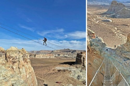Amangiri's jaw-dropping Cave Peak aerial stairway | Vacations & Travel
