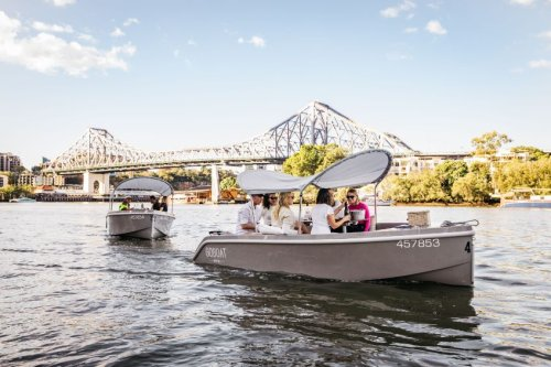 GoBoat Brisbane lets you sail down the river on an electric picnic boat  