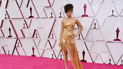 Inside the Creation of Andra Day's Golden Oscar Look