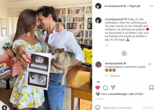 Riccardo Pozzoli e Gabrielle Caunesil presto genitori - VanityFair.it