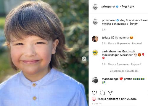 Alexander di Svezia, «curioso e dispettoso» compie cinque anni. Le nuove foto per festeggiarlo - VanityFair.it