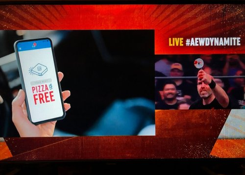 AEW Draws Domino's Ire for Ad Placement During Chris Jericho-Nick Gage No DQ Match