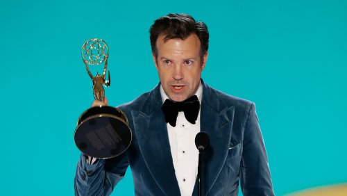 Jason Sudeikis Wins Emmy for 'Ted Lasso': 'This Show Is About Mentors, Teachers and Teammates'
