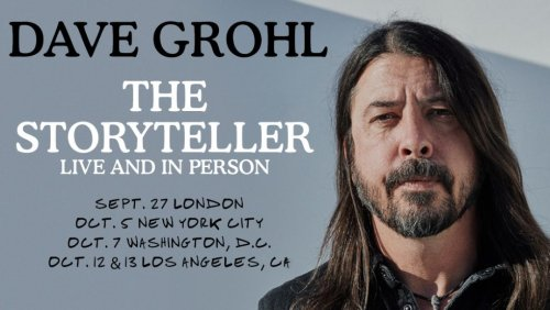 Foo Fighters' Dave Grohl Unveils 'Storyteller' Book Tour Dates