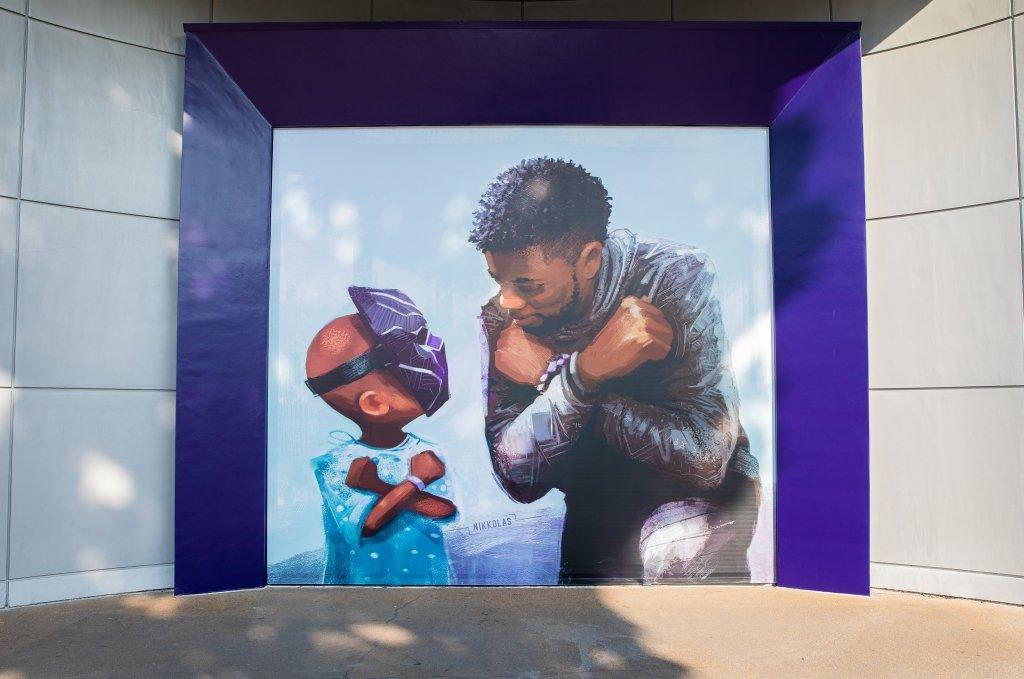 'Black Panther' Mural With Chadwick Boseman Unveiled at Disneyland