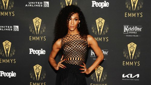 Emmy Nominees Mj Rodriguez and Hannah Waddingham Celebrate at TV Academy Party Ahead of Awards Show