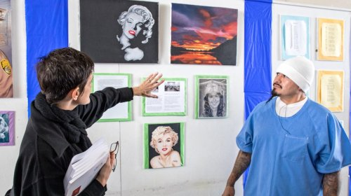Tyler Mitchell and Faye Wei Wei lead arts classes for California inmates