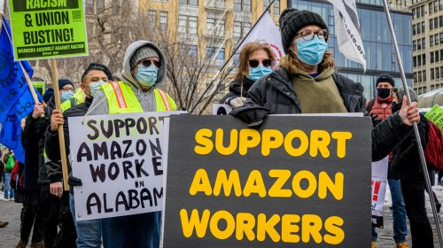 Amazon Is Paying Employees to Quit Right Before Critical Union Vote