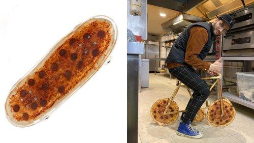 Dieser Typ hat das erste Pizza-Skateboard der Welt gebaut