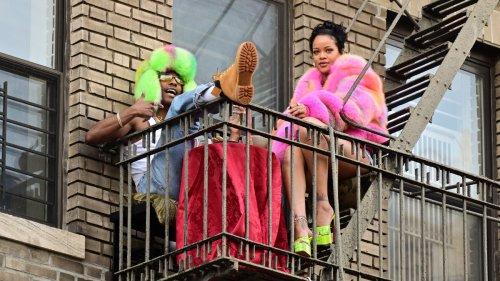 Rihanna and A$AP Rocky wurden zusammen bei einem Videodreh gesichtet