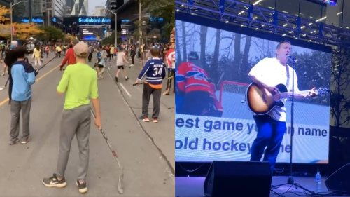 Anti-Vaxxers Held Rally in Toronto Disguised as a Kids Hockey Event