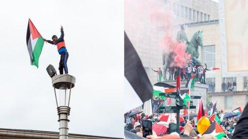 Bruxelles s'est aussi mobilisée en soutien au peuple palestinien