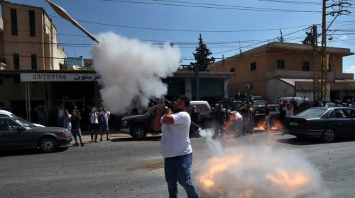 Fuel Trucks Finally Arrived in Lebanon and People Celebrated by Firing RPGs Into the Air