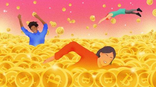 Avec les femmes qui gagnent des millions grâce aux cryptomonnaies