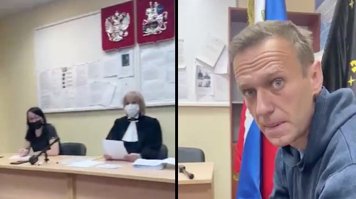 Vladimir Putin Critic Alexei Navalny Has Been Put On Trial in a Police Station
