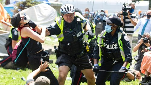 Toronto Cops Filmed Beating People While Destroying Homeless Camp