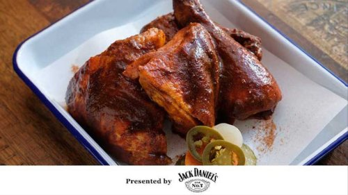 Apple Barbecue Sauce-Basted Smoked Chicken Recipe
