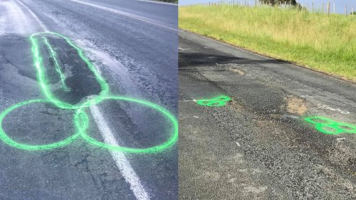 This Guy Paints Penises Over Potholes To Get Them Filled Faster