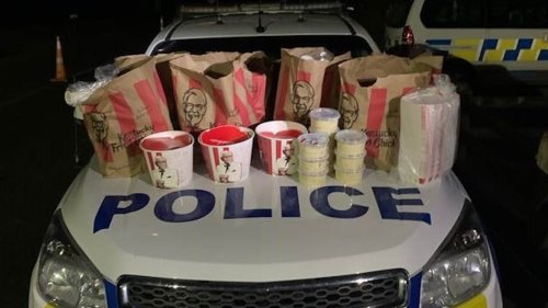 Gang Members Busted Trying to Smuggle a Carload of KFC Into a Locked Down City