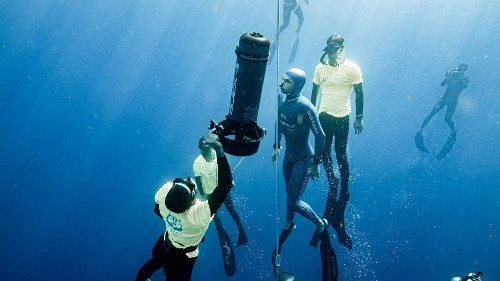 Apnoetauchen: Ein Profi erklärt, was er 112 Meter tief im Meer erlebt