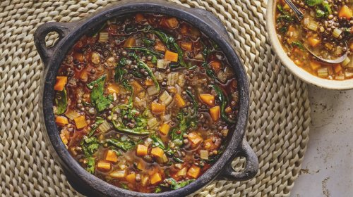 Lentil and Vegetable Soup with Preserved Lemon Recipe