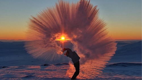 Insta of the Week: Hot Tea Freezing in -40° Air
