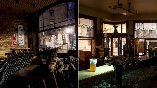 Des photos de bars vides, sans ivresse, sans vous, sans rien