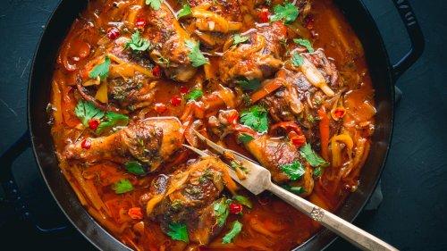 Poule Nan Sos (Chicken in Sauce) Recipe