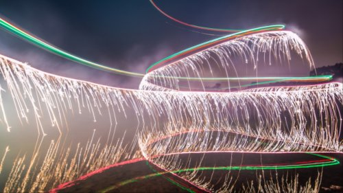Fireworks + Drones = Today's Best Light Paintings
