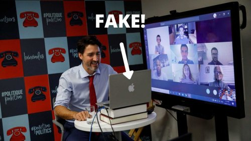 Busted! Justin Trudeau Caught Using a Fake Apple MacBook