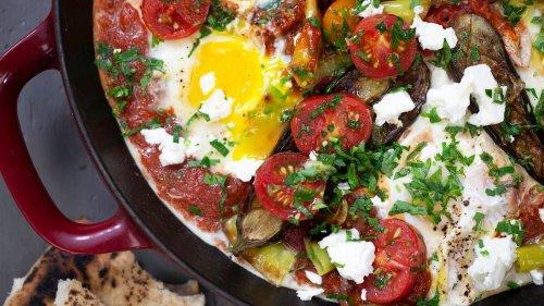 Easy Tomato and Eggplant Shakshuka Recipe
