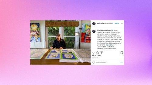 Pierce Brosnan Is Selling Prints of His Pop Art-Inspired 'Earplugs' Painting