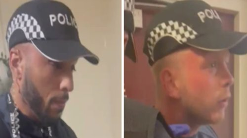Watch Fake Cops Get Called Out After Trying to 'Search' a Woman's Home