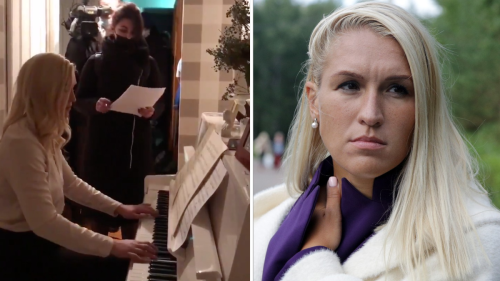 Watch This Russian Dissident Flawlessly Play the Piano as Police Wait to Arrest Her