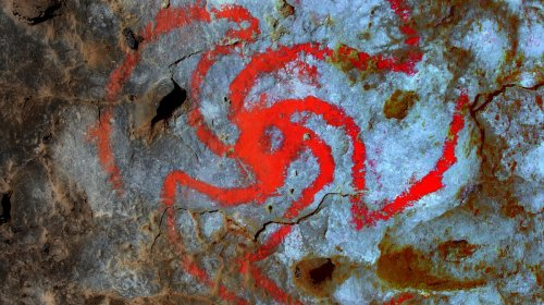 Hace siglos, la gente tripeaba frente a esta fascinante obra de arte rupestre