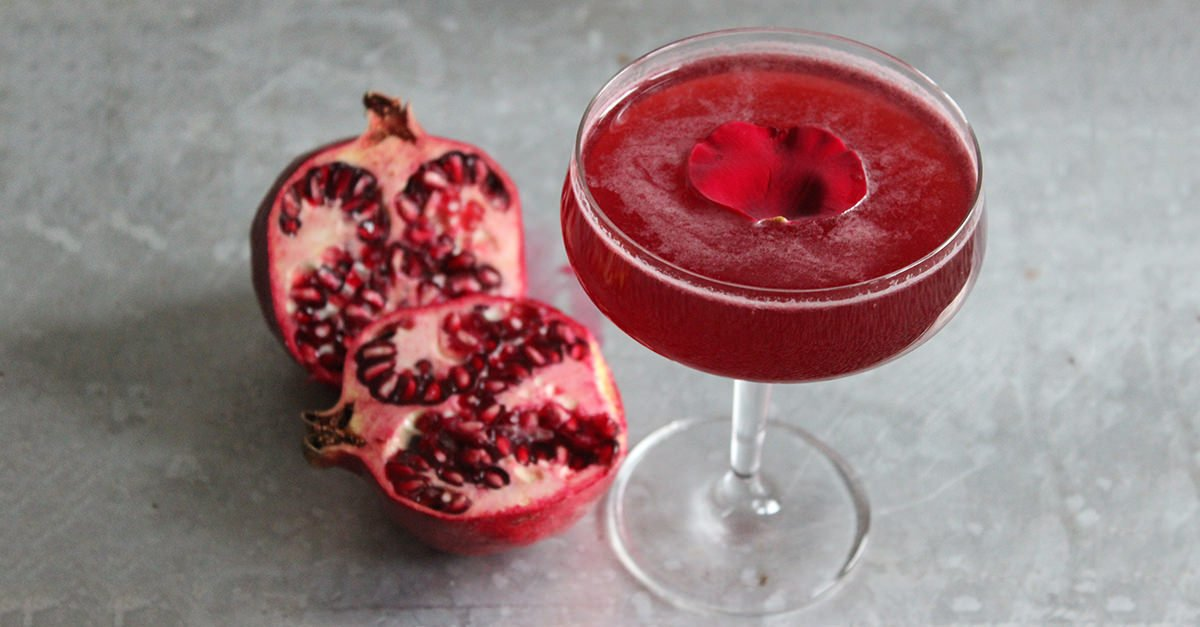 The Rose And Pomegranate Cocktail Recipe