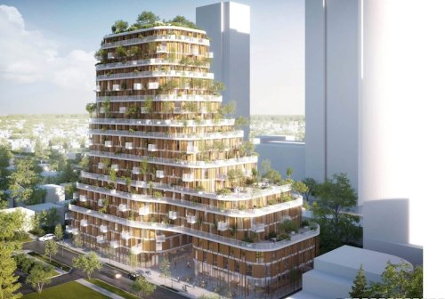 This Vancouver high-rise will be made of timber, bamboo, and a 'living canopy' of greenery