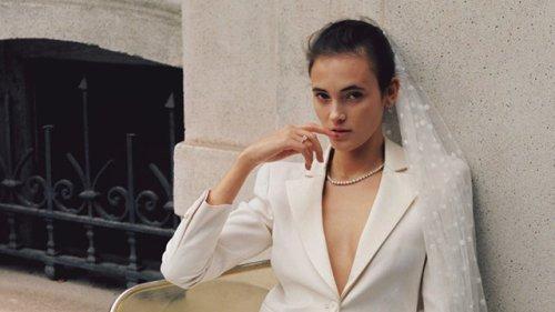 大人花嫁の余裕と洗練が光るモダンなホワイトには、シャープな輝きを添えて。【今ほしいのは、可憐なスタイル! ヒロインになれるカラーパレットを学ぼう】