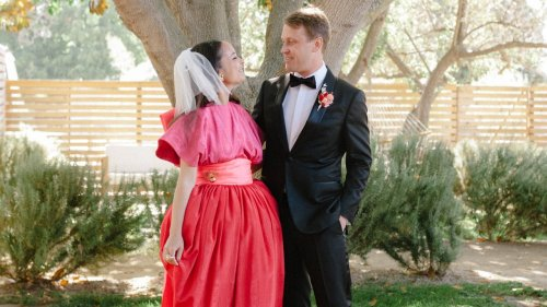 This Fashion-Obsessed Bride's Strawberry Dress Was A Perfect Ode To Her Mother