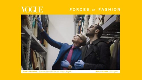 Marc Jacobs Dives Into Hamish Bowles's Clothing Archive During Forces of Fashion